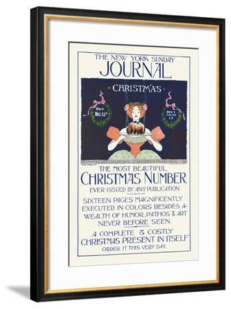 The New York Sunday Journal, Christmas. Out Dec. 13, Don't Miss It-Ernest Haskell-Framed Art Print