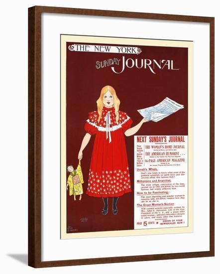 The New York Sunday Journal-Ernest Haskell-Framed Art Print
