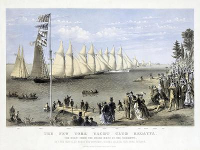 The New York Yacht Club Regatta, Pub. Currier and Ives, 1869--Giclee Print