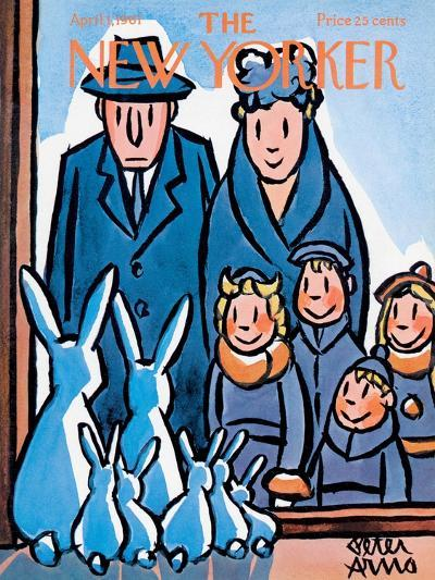 The New Yorker Cover - April 1, 1961-Peter Arno-Premium Giclee Print