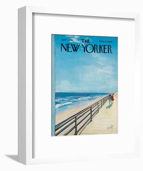The New Yorker Cover - April 1, 1967-Arthur Getz-Framed Premium Giclee Print