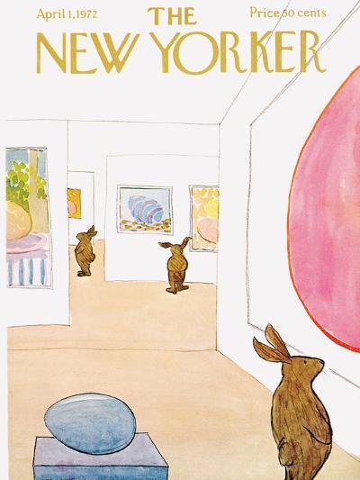 The New Yorker Cover - April 1, 1972-James Stevenson-Premium Giclee Print