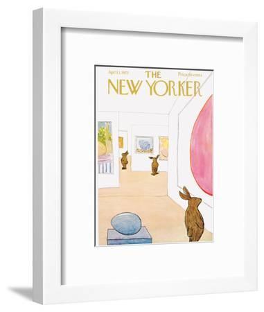 The New Yorker Cover - April 1, 1972-James Stevenson-Framed Premium Giclee Print