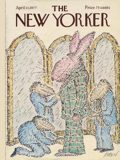 The New Yorker Cover - April 11, 1977-Edward Koren-Premium Giclee Print