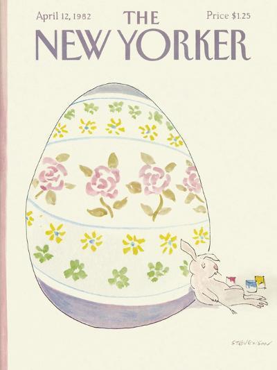 The New Yorker Cover - April 12, 1982-James Stevenson-Premium Giclee Print