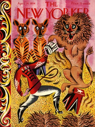 The New Yorker Cover - April 14, 1934-Harry Brown-Premium Giclee Print