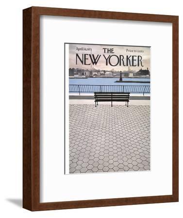The New Yorker Cover - April 14, 1973-Charles E. Martin-Framed Premium Giclee Print