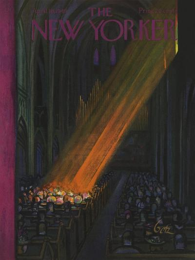 The New Yorker Cover - April 16, 1949-Arthur Getz-Premium Giclee Print