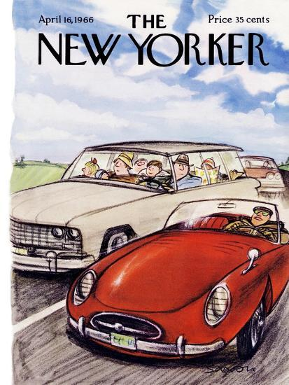 The New Yorker Cover - April 16, 1966-Charles Saxon-Premium Giclee Print