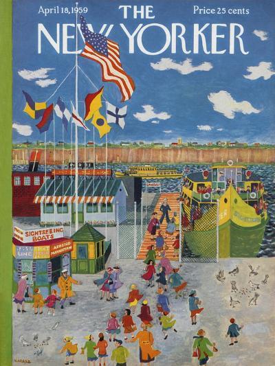 The New Yorker Cover - April 18, 1959-Ilonka Karasz-Premium Giclee Print