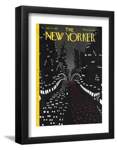 The New Yorker Cover - April 2, 1927-Toyo San-Framed Art Print