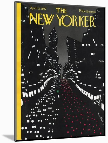 The New Yorker Cover - April 2, 1927-Toyo San-Mounted Premium Giclee Print