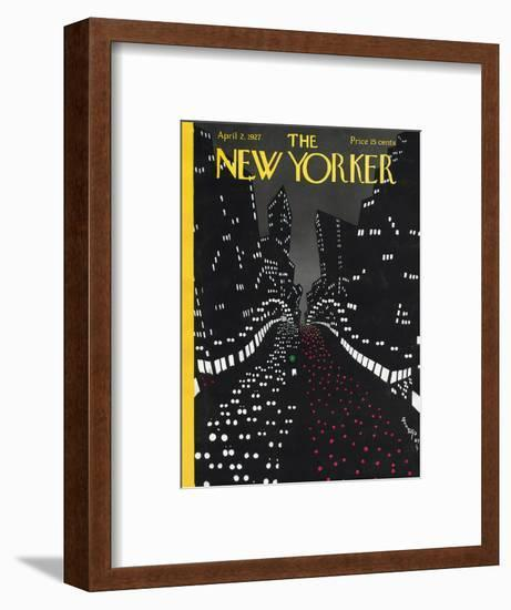 The New Yorker Cover - April 2, 1927-Toyo San-Framed Premium Giclee Print