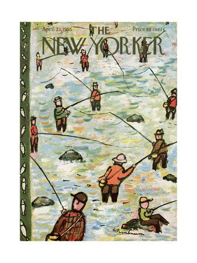 The New Yorker Cover - April 23, 1955-Abe Birnbaum-Premium Giclee Print