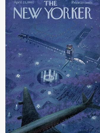 The New Yorker Cover - April 23, 1960-Garrett Price-Premium Giclee Print