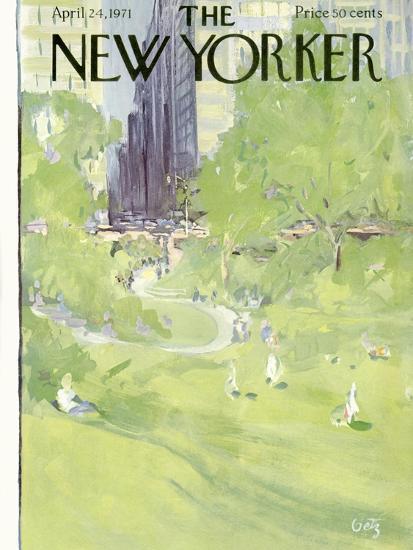 The New Yorker Cover - April 24, 1971-Arthur Getz-Premium Giclee Print
