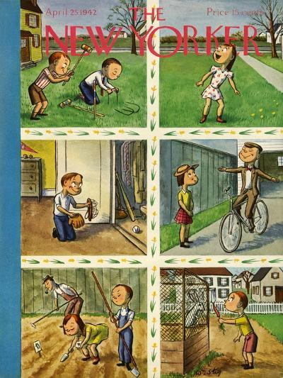 The New Yorker Cover - April 25, 1942-William Steig-Premium Giclee Print