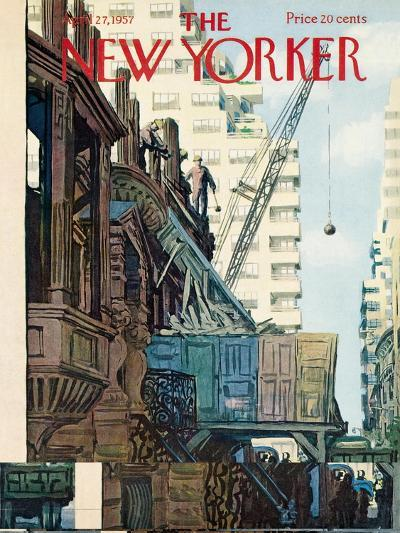 The New Yorker Cover - April 27, 1957-Arthur Getz-Premium Giclee Print