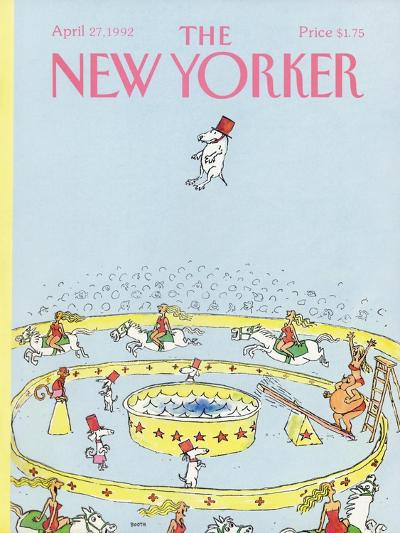 The New Yorker Cover - April 27, 1992-George Booth-Premium Giclee Print