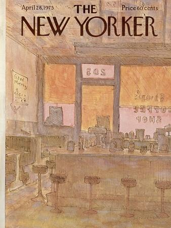 The New Yorker Cover - April 28, 1975-James Stevenson-Premium Giclee Print