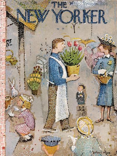 The New Yorker Cover - April 5, 1958-Garrett Price-Premium Giclee Print