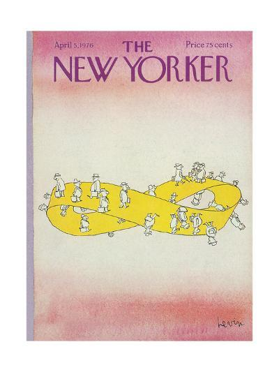 The New Yorker Cover - April 5, 1976-Arnie Levin-Premium Giclee Print
