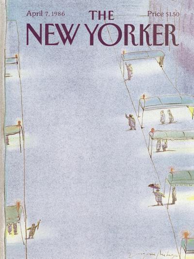 The New Yorker Cover - April 7, 1986-Eug?ne Mihaesco-Premium Giclee Print