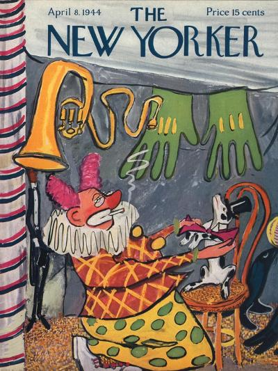 The New Yorker Cover - April 8, 1944-Ludwig Bemelmans-Premium Giclee Print