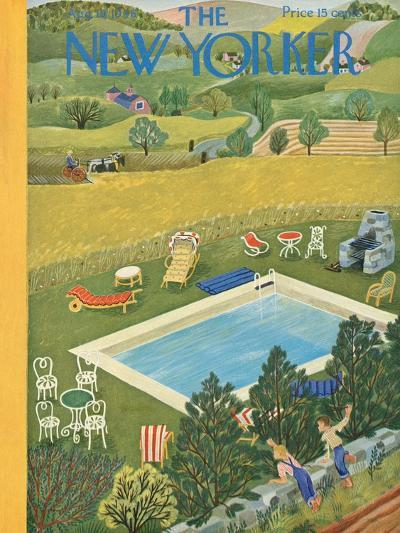 The New Yorker Cover - August 10, 1946-Ilonka Karasz-Premium Giclee Print
