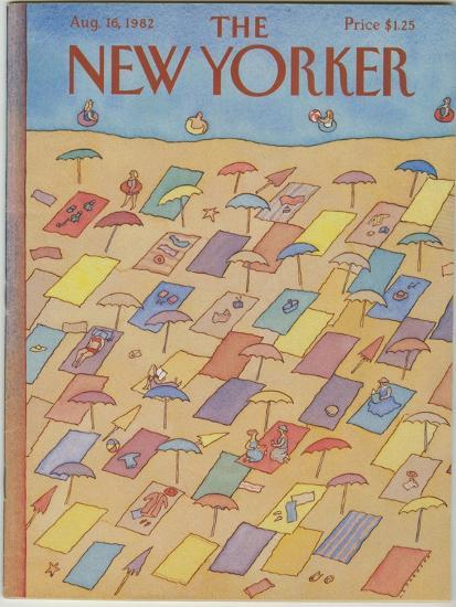 The New Yorker Cover - August 16, 1982-Lonni Sue Johnson-Premium Giclee Print