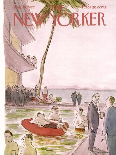 The New Yorker Cover - August 19, 1972-James Stevenson-Premium Giclee Print
