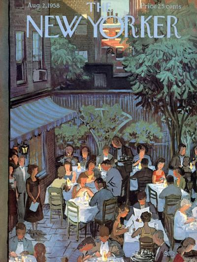The New Yorker Cover - August 2, 1958-Arthur Getz-Premium Giclee Print