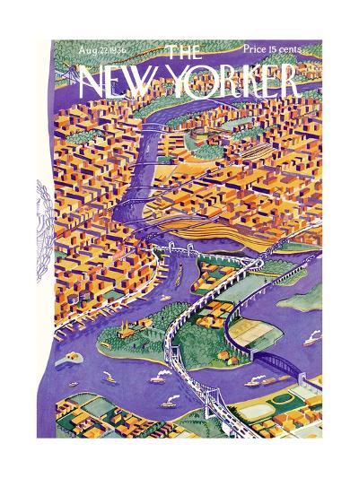 The New Yorker Cover - August 22, 1936-Ilonka Karasz-Premium Giclee Print