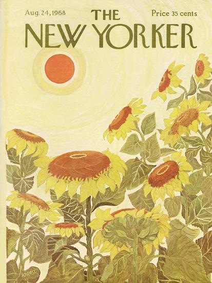 The New Yorker Cover - August 24, 1968-Ilonka Karasz-Premium Giclee Print