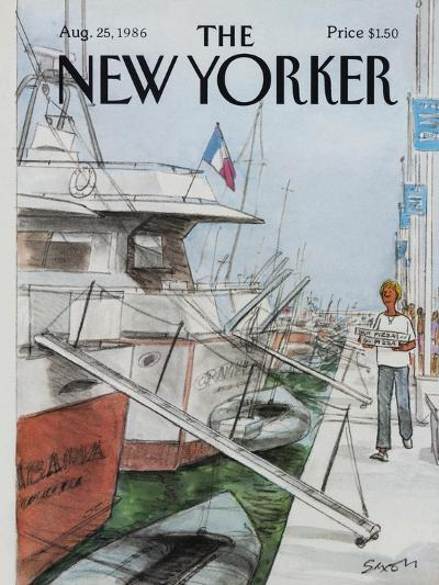 The New Yorker Cover - August 25, 1986-Charles Saxon-Premium Giclee Print