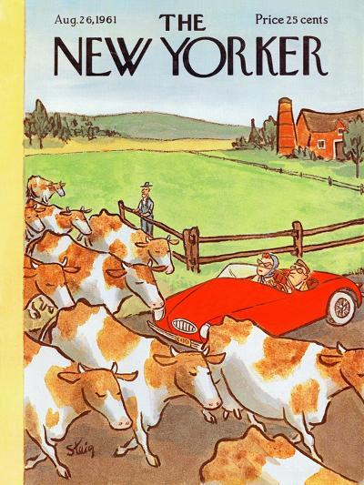 The New Yorker Cover - August 26, 1961-William Steig-Premium Giclee Print