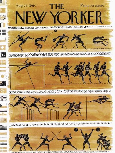 The New Yorker Cover - August 27, 1960-Anatol Kovarsky-Premium Giclee Print
