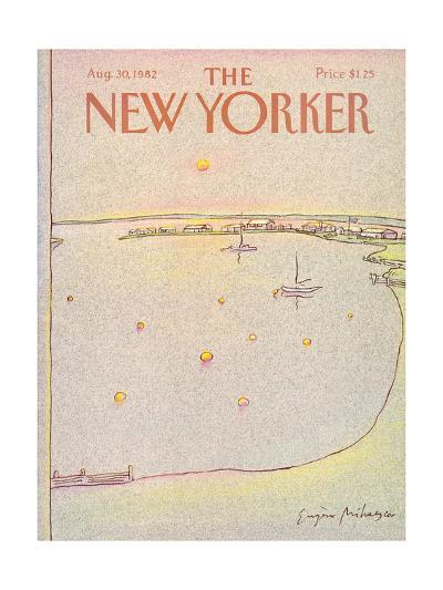 The New Yorker Cover - August 30, 1982-Eug?ne Mihaesco-Premium Giclee Print