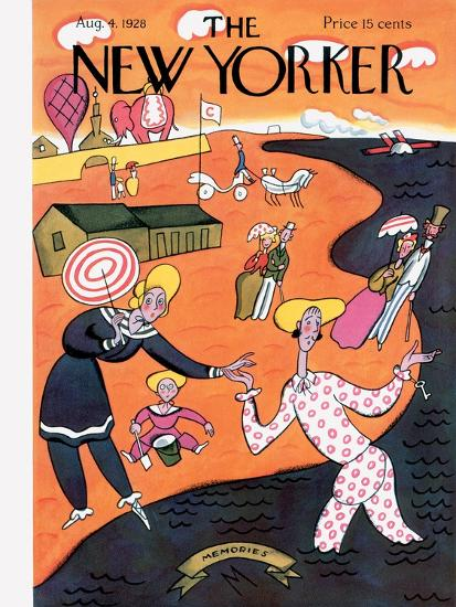 The New Yorker Cover - August 4, 1928-Julian de Miskey-Premium Giclee Print