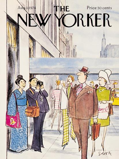 The New Yorker Cover - August 5, 1974-Charles Saxon-Premium Giclee Print