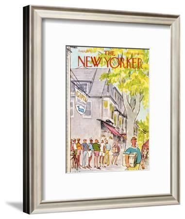 The New Yorker Cover - August 6, 1973-Charles Saxon-Framed Premium Giclee Print
