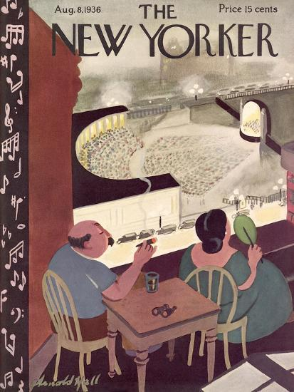 The New Yorker Cover - August 8, 1936-Arnold Hall-Premium Giclee Print