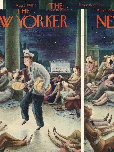 The New Yorker Cover - August 8, 1942-Constantin Alajalov-Premium Giclee Print