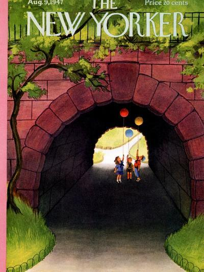 The New Yorker Cover - August 9, 1947-Edna Eicke-Premium Giclee Print