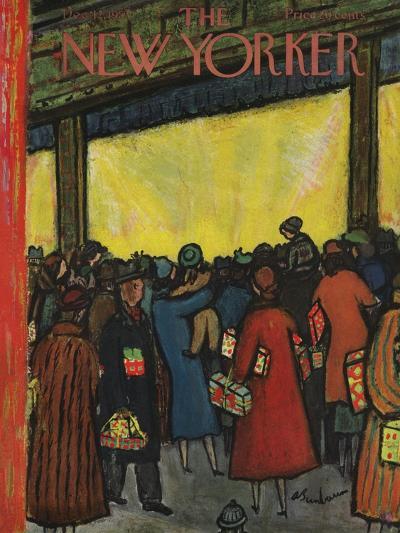 The New Yorker Cover - December 12, 1953-Abe Birnbaum-Premium Giclee Print