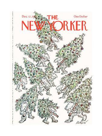 The New Yorker Cover - December 12, 1977-Edward Koren-Premium Giclee Print
