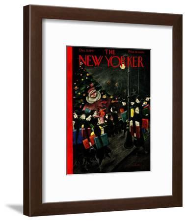 The New Yorker Cover - December 13, 1947-Christina Malman-Framed Premium Giclee Print