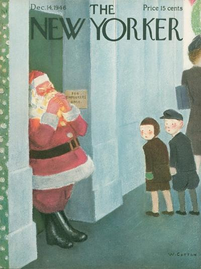 The New Yorker Cover - December 14, 1946-William Cotton-Premium Giclee Print
