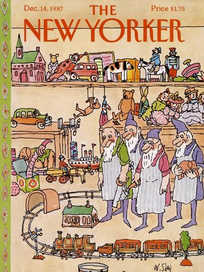 The New Yorker Cover - December 14, 1987-William Steig-Premium Giclee Print