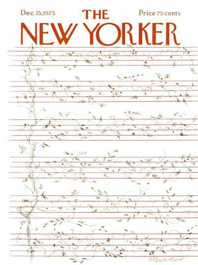 The New Yorker Cover - December 15, 1975-James Stevenson-Premium Giclee Print